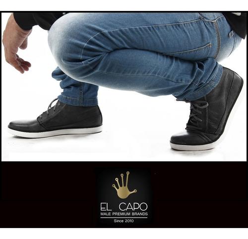 jeans - ablo azul - chupin slim fit elastizado - el capo