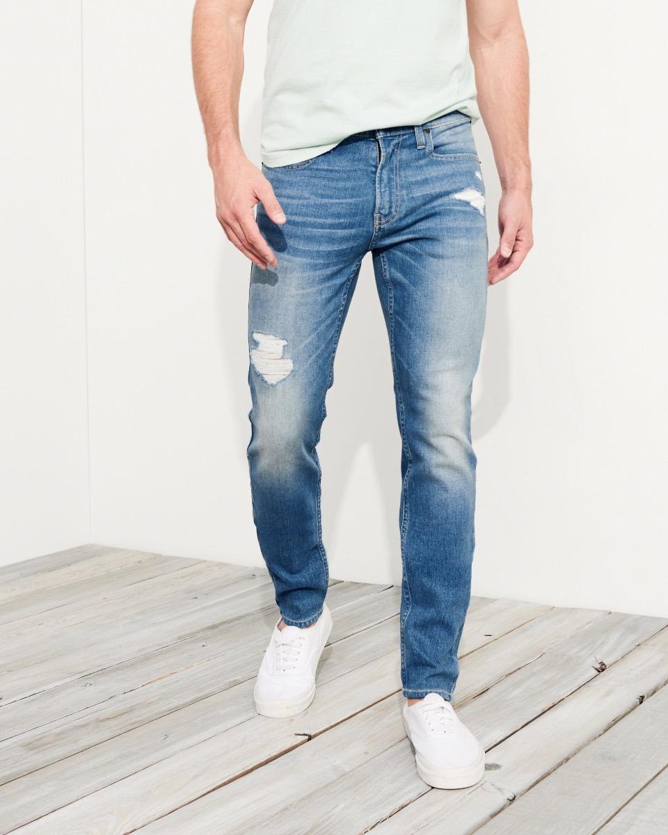 843ea3f247fb4 Jeans Ajustados Hollister Epic Flex Súper Skinny Jeans -   1
