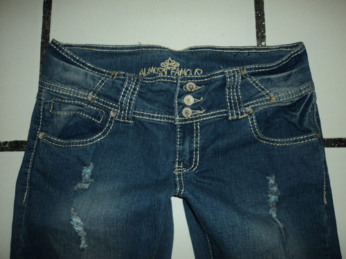 jeans almost famous destroyed skinny t-7 mex nuevo original