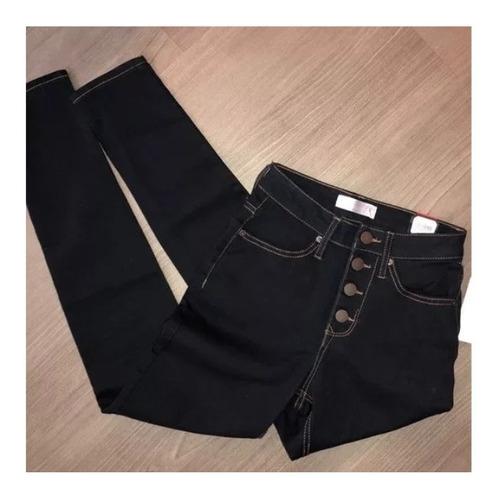 jeans alto botones para dama