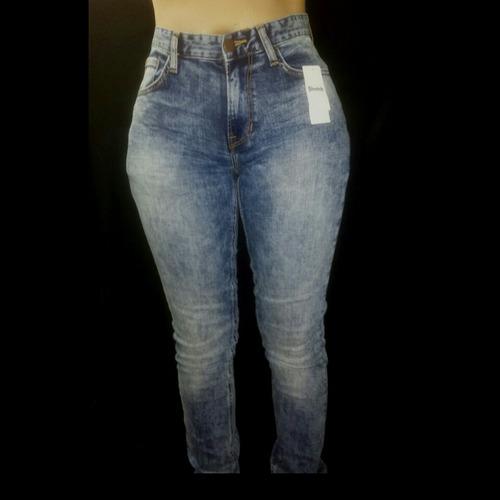 jeans alto strech tubo skinny dama pantalon talla 42