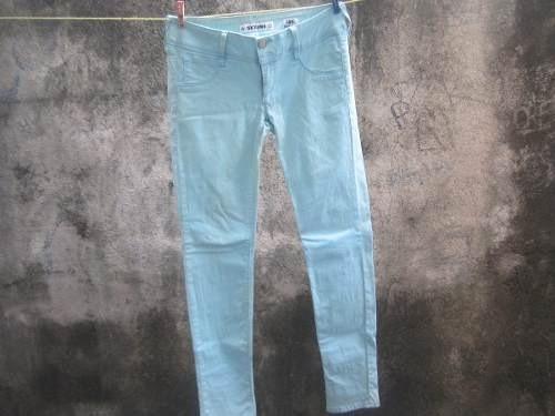 jeans azul cielo para mujer, sexy jeans, talla 28, entubados