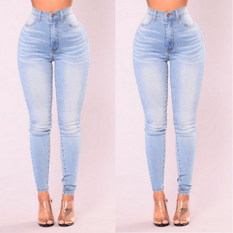 en venta en línea nueva llegada calidad Jeans Azul Cintura Alta Mujer Lady Summer Stretch