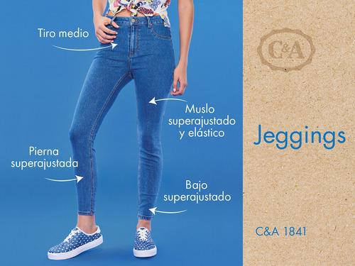 jeans básicos de mujer c&a corte jegging stretch