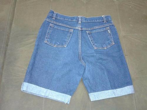 jeans bermuda calça