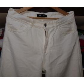 Jeans Blanco Wox Demin 32 Tiro Alto Rigido !!