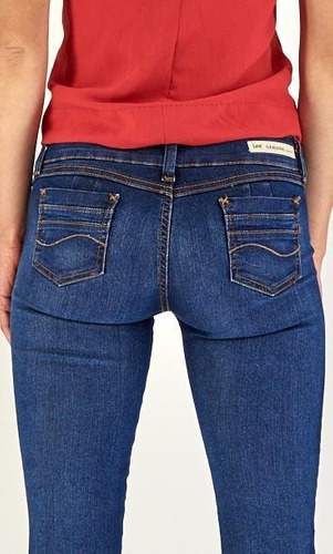 jeans casual lee mujer skinny booty up r45