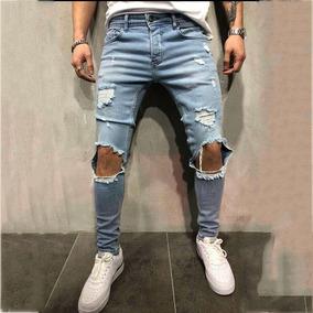 Super descuento niño oferta Jeans Ceñidos Y Rotos Con Agujeros Para Hombre
