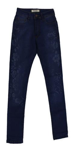 jeans chupin elastizado mujer surah detalle flores (2432)