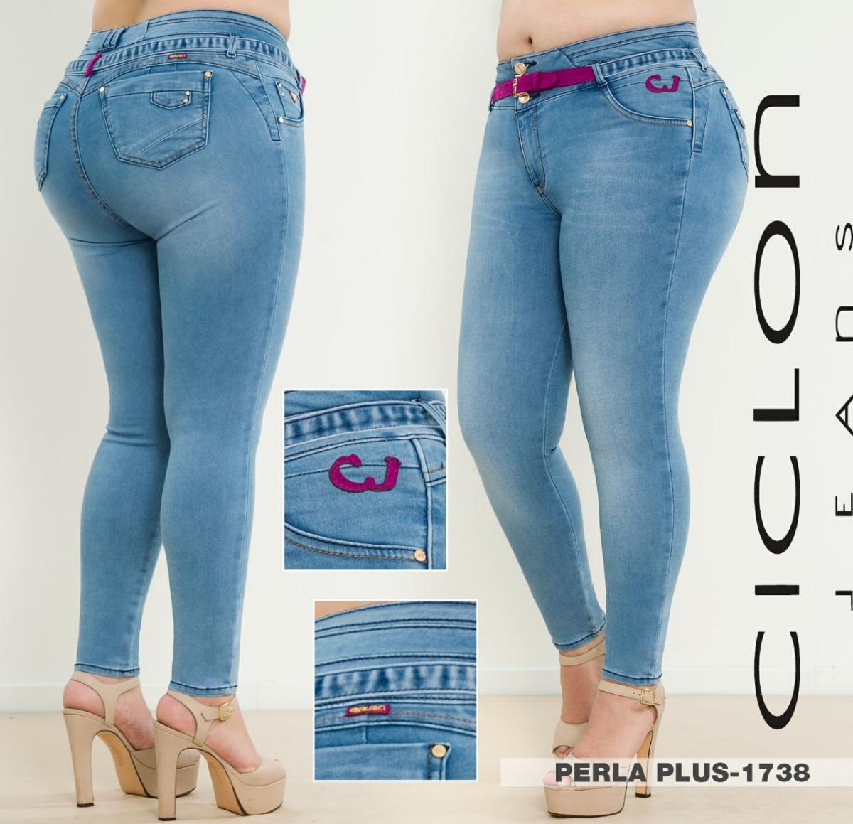1bd43b3acb jeans ciclon pantalón mujer corte colombiano talla extra f. Cargando zoom.