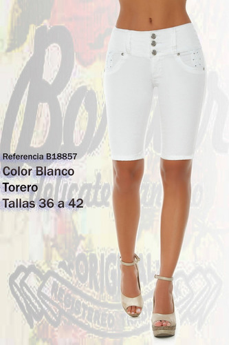 jeans colombianos levanta cola color blanco / grupoborder