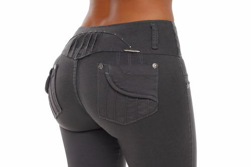 jeans colombianos levanta cola color gris / grupoborder