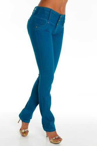 jeans colombianos levanta cola color jade / grupoborder
