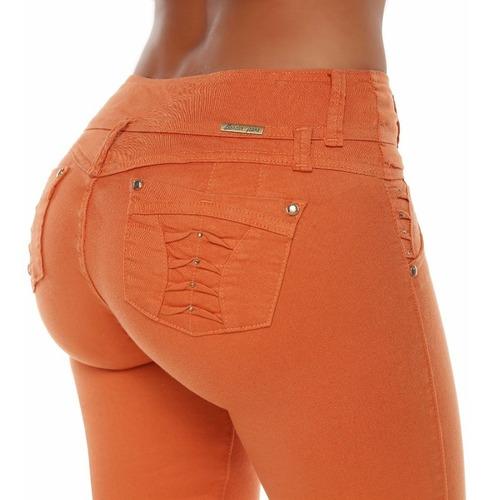jeans colombianos levanta cola color ladrillo / grupoborder