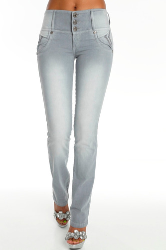 jeans colombianos push up color gris claro / grupoborder