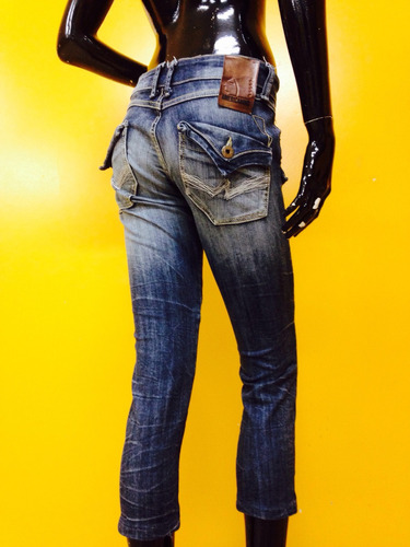 jeans cortos americanino 38 oscuros