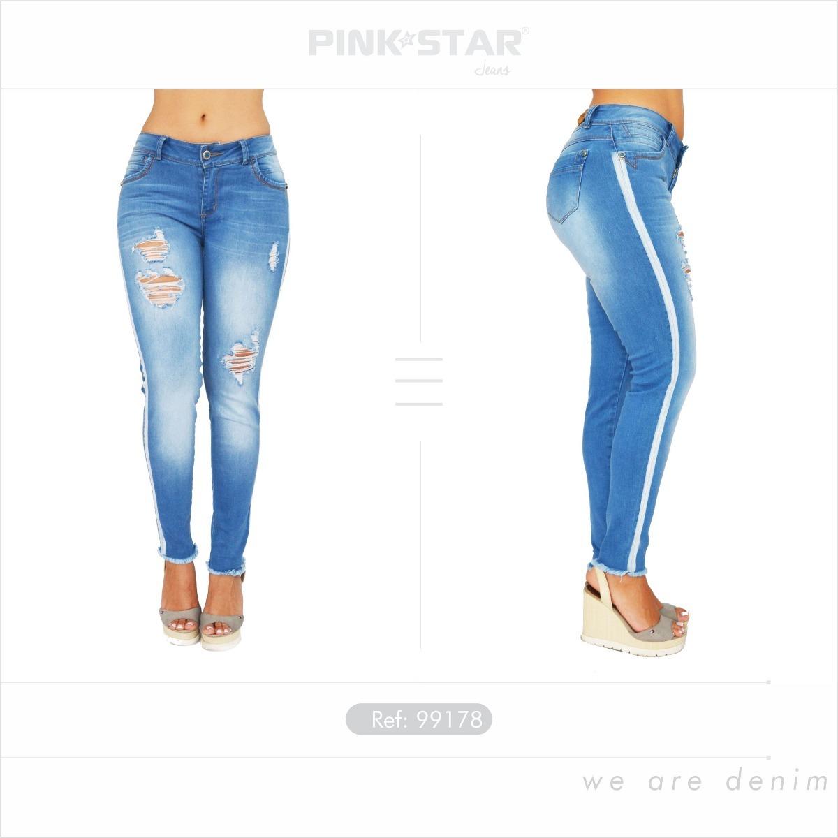 jeans dama levantacola - pink star jeans - jeans de moda. Cargando zoom. 867e687ecbab