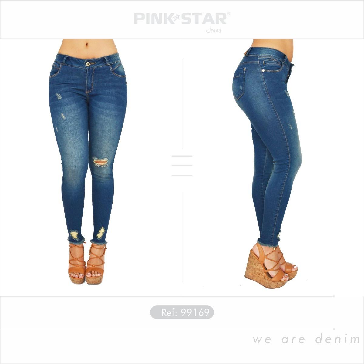 Jeans Dama Levantacola - Pink Star Jeans Push Up -   74.900 en ... 43b0d332c609