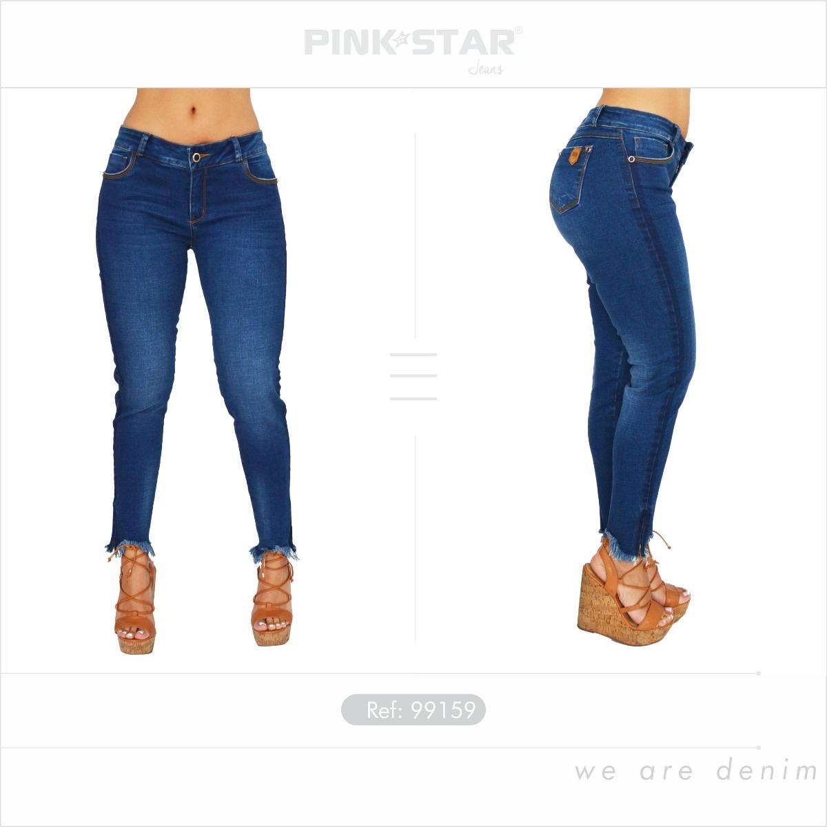 Jeans Dama Levantacola - Pink Star Jeans Push Up -   52.500 en ... 872cdcaf0a32