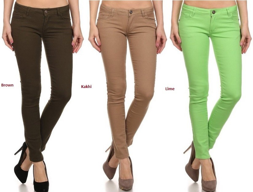 Dama Para Solo 3 De Colores Jeans Tallas sQrChdtx