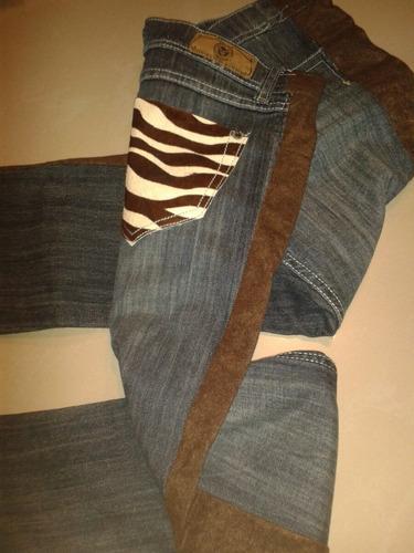 jeans de dama bolsillo de piel importado talla americana 14