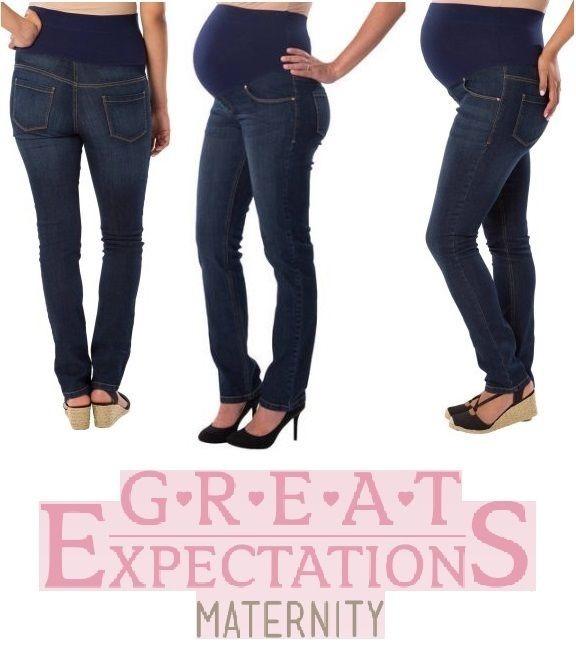 62850d0e9 Jeans De Mezclilla Maternidad Ajustable Talla Extra Grande ...