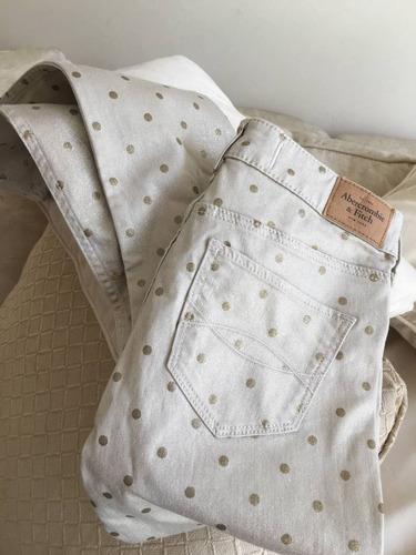 jeans denim niña abercrombie&fitch dorados jr talla 0 w25