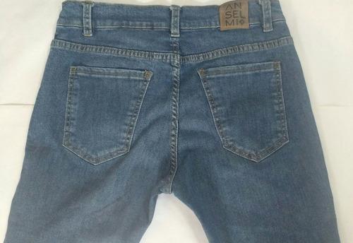 jeans elastizados azules hombre marca anselmi