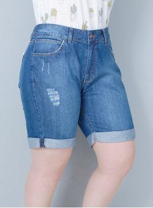 3d1e89f98 jeans feminino short 2 kit c/3 short bermuda jeans plus size feminino até  56 lycra