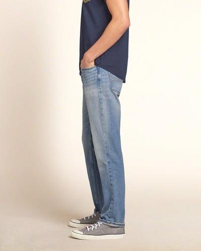 jeans hollister calça