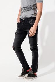 comprar bien disfruta el precio de liquidación nueva productos Vaquero Negro De Hombre Elastizado - Pantalones, Jeans y ...