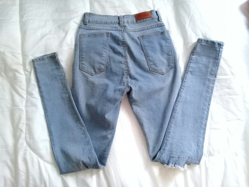 jeans isis talla s alto roto claro