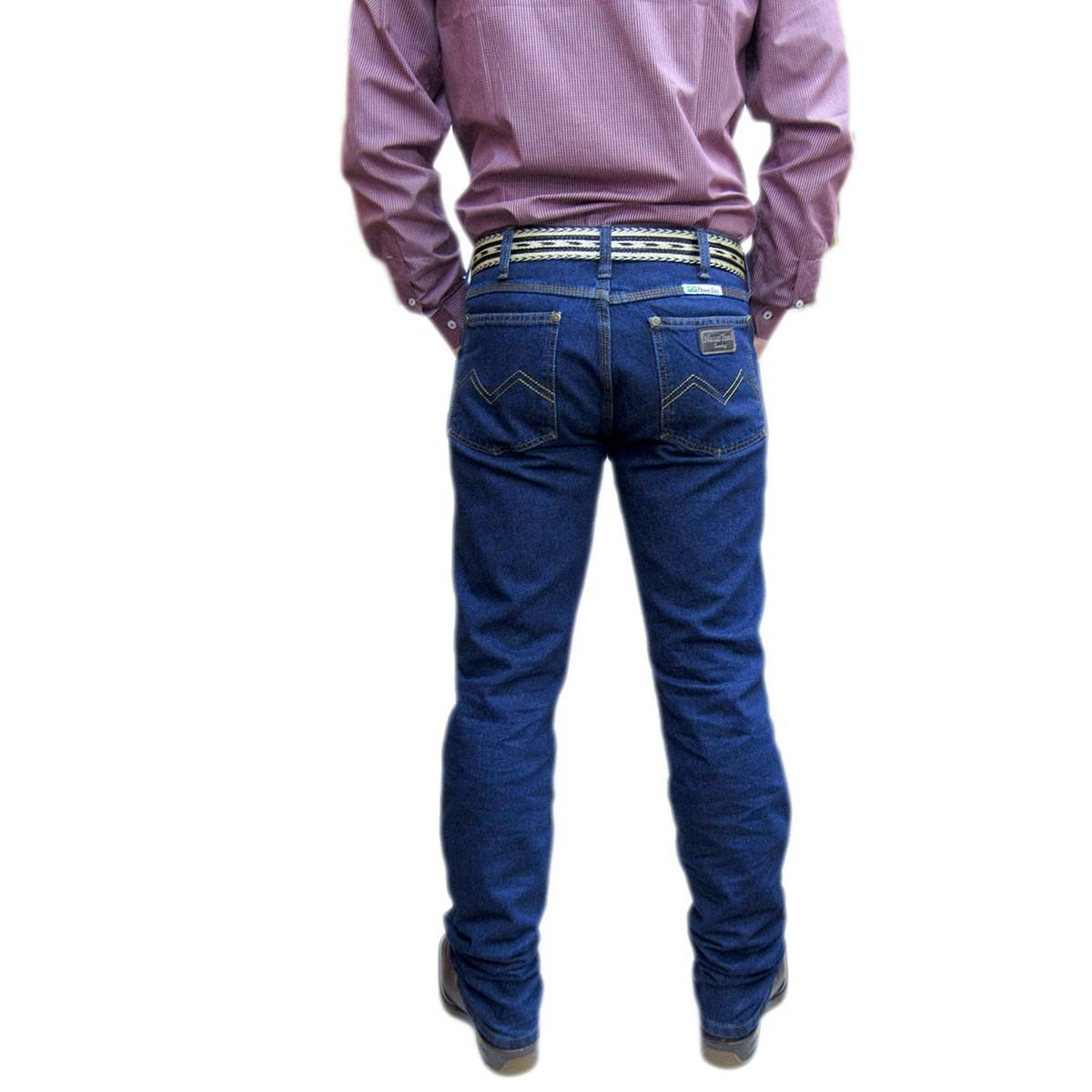 f249fa0b7b35f Carregando zoom... calça country jeans masculina blue jeans resistente -  9687