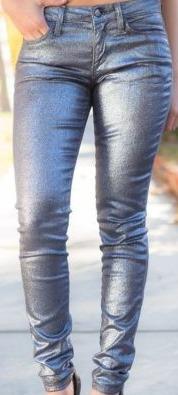 jeans  joes talla 25 plateado oscuro con brillitos