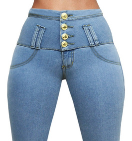 ff3f78032 Jeans Levanta Cola Calce Perfecto Chupin Con Bolsillos