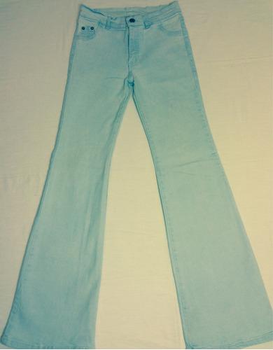 jeans levanta cola elasticado tela gruesa