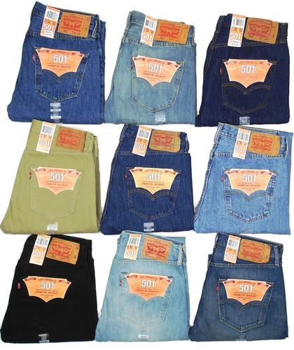 jeans levis 501 35x32 azul medio original usa