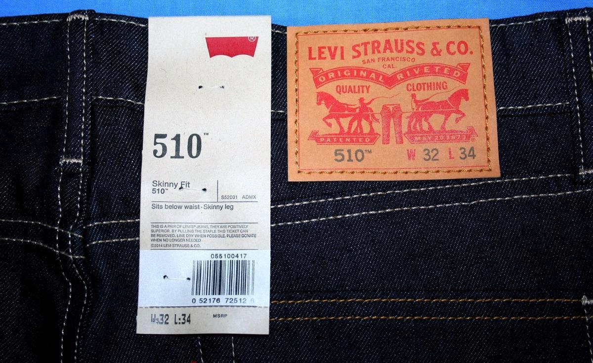 a653078924 Calça Jeans Levi s 510 Skinny Fit Tam. W32  L34 - R  199