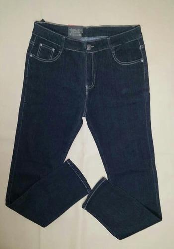 jeans liso strech corte alto talla plus  19-20