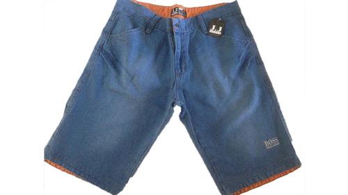 jeans masculino bermuda