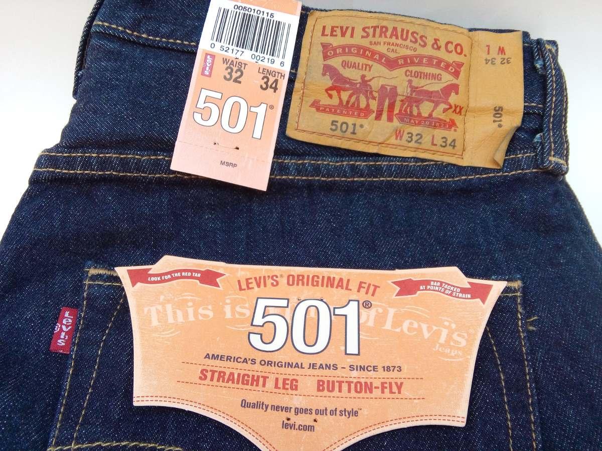 Jeans Masculino Levi´s 501 Original Do Tam. W32 Ao 40 E L34. - R ... fedebaf1366