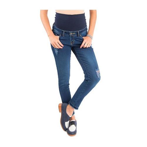 7dd3341ab Jeans Maternal Cropped Azul Madremía -   34.990 en Mercado Libre
