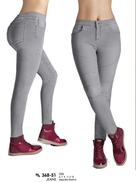 41cfd9bf1f Jeans Mezclilla Stretch Gris Talla 7 Dama Cklass 36851 -   592.00 en ...