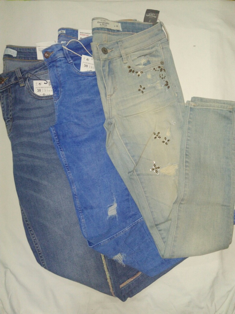 596936156 Jeans Mujer Abercombie Y Zara Denim