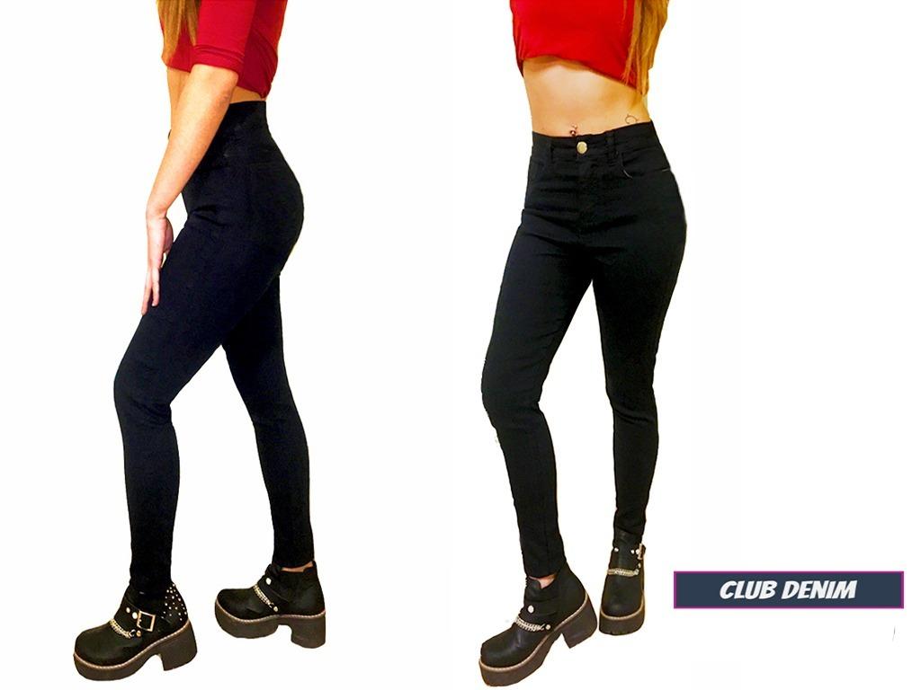 d271c4a2e7a7 jeans mujer gabardina negro chupin elastizado tiro alto! Cargando zoom.