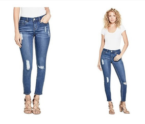 Jeans Dama Cropped Ankle Desgastados Roto Skinny Estilo Zara