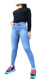 a958fe5a Jeans Mujer -las Locas Stone Claro- Chupin Talles 34 Al 50