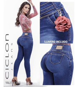 a3df7d38 Jeans Mujer Pantalón Colombiano Mezclilla Strech Push Up 01c