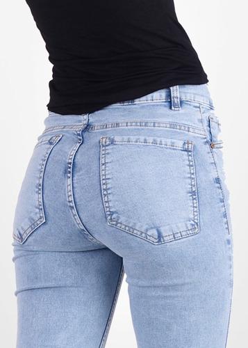 jeans mujer tiro alto lili sisa no thalasso las locas