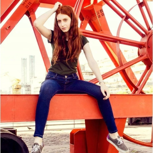 jeans mujer tiro alto sisa estático no thalasso las locas
